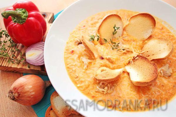 Американский суп Чаудер с индейкой