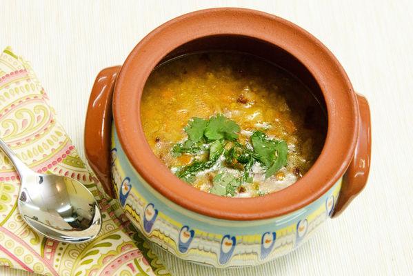 Суп с красной чечевицей со свининкой и копченой паприкой