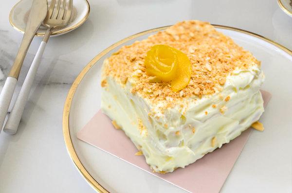 """Торт """"Наполеон"""" с персиками"""