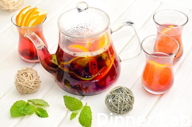 Цитрусовый чай с апельсином, черной смородиной и мятой